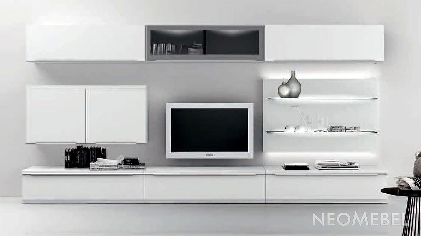 стенки в зал фото минимализм